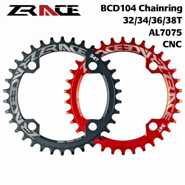 ZRACE-Chainrings-Chainwheel-32T-34T-36T-38T-BCD104-7075-Aluminum-alloy-CNC-process-Vickers-hardness-15